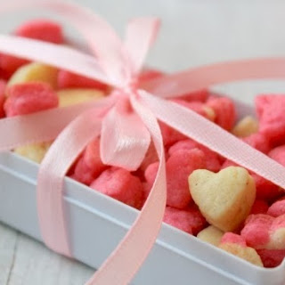 Mini Cookies   Heart Shaped Mini Cookies   Pink Cookies   Christmas Edible Gifts   New Year Recipes   Valentine's Day Recipes