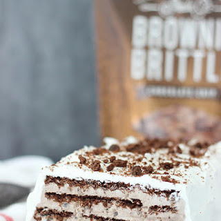 Brownie Brittle Icebox Cake