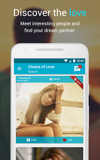 Free Dating & Flirt Chat ♥ Choice of Love Screenshot