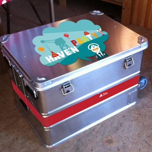 verjaardagskoffer voor verjaardagsfeestje