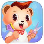 Little Bear Hair Salon - Kids Games Icon