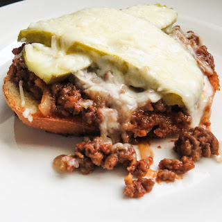 30 Minute Sloppy Joe Melts on Garlic Bread.