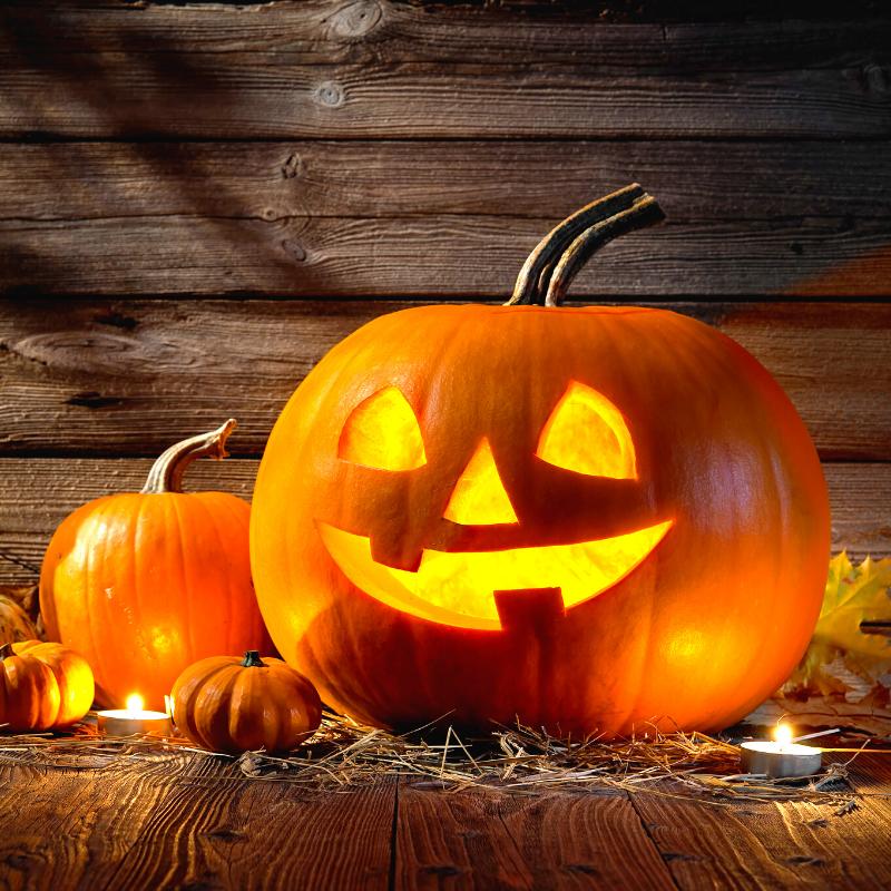 une citrouille d'Halloween