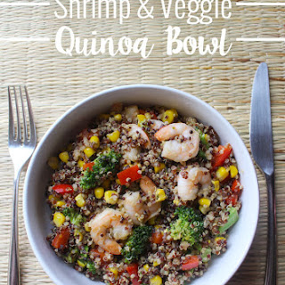 Shrimp and Veggie Quinoa Bowl.