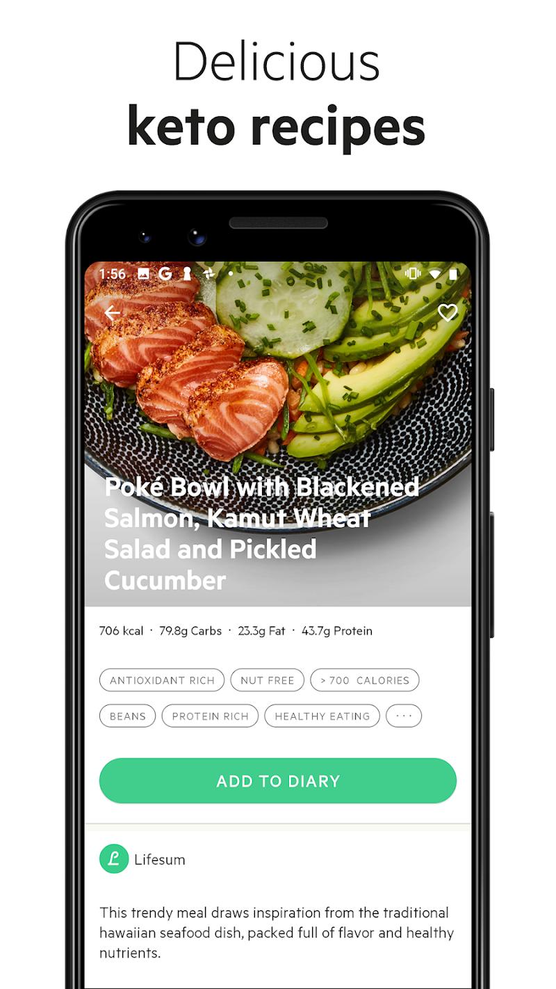 Lifesum - Diet Plan, Macro Calculator & Food Diary Screenshot 6