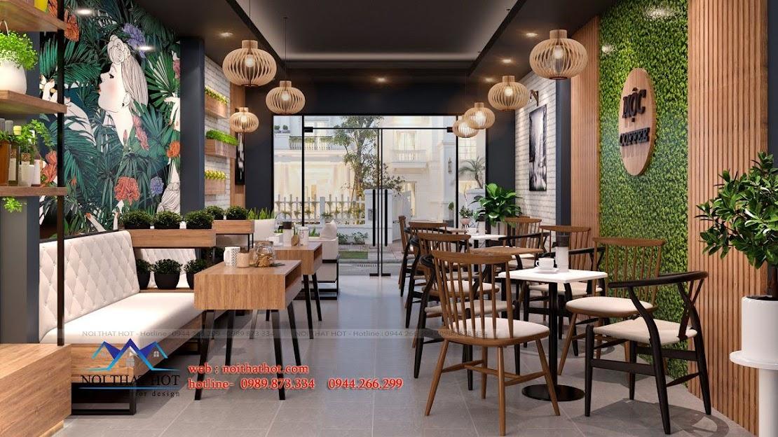 thiết kế quán cafe 40m2 7
