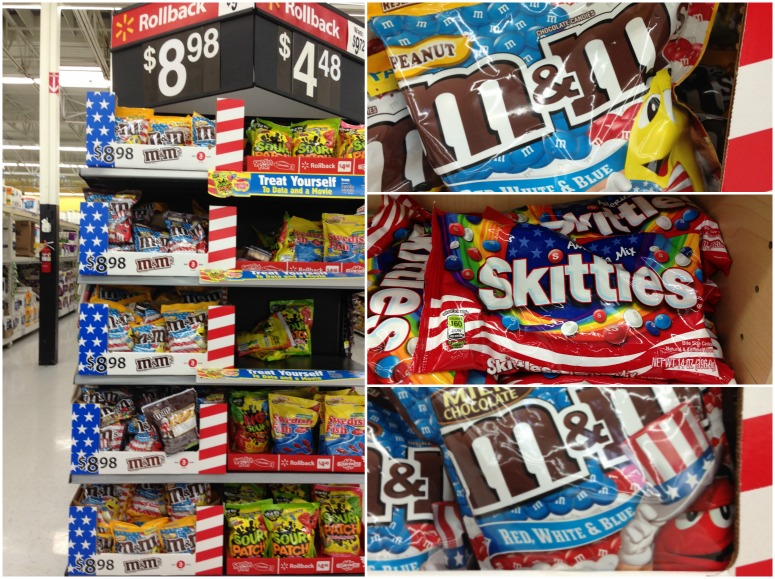 Red, White & Blue M&M's® Milk Chocolate, Red, White & Blue M&M's® Peanut, and Skittles® Red, White, & Blue at Walmart