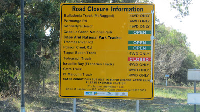 Photo: Good news except for the southern Telegraph Track