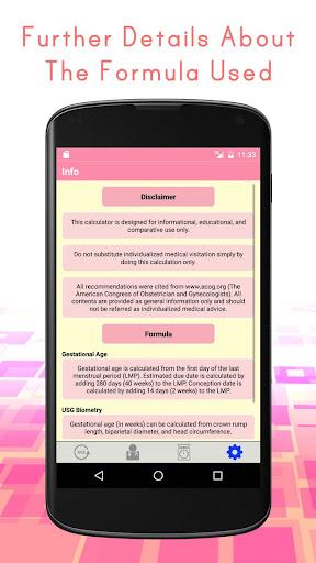 Pregnancy Calculators: Due Date & Gestational Age 2.4 screenshots 4