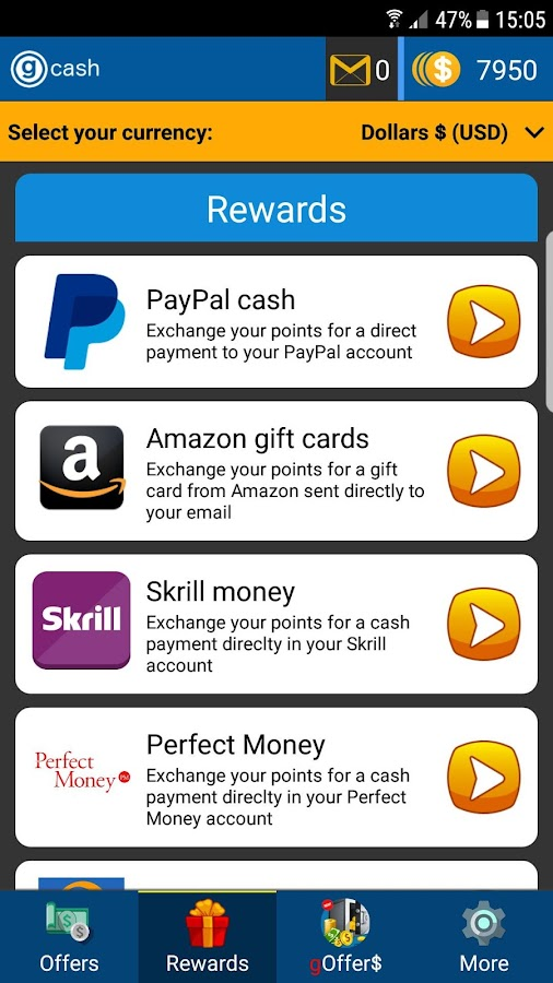 G Cash: Earn Free Paypal Money, Gift Cards & More- screenshot