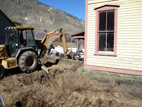 """Photo: Code requires a 42"""" deep footer, the original stone footer under the house is down 12 inches and has worked well since 1883."""