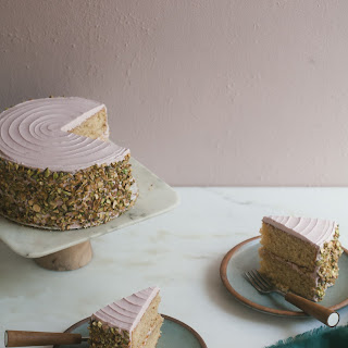 Italian Pistachio Cake with Roasted Plum Frosting