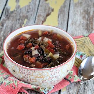 Kale & Black Bean Chicken Soup