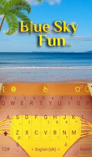 Blue Sky Fun Keyboard Theme - náhled