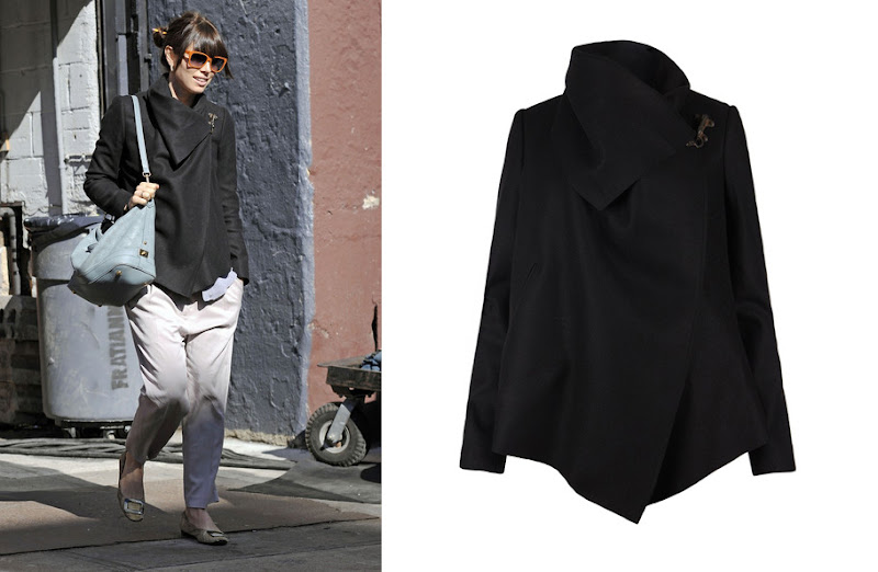 Photo: We spotted the lovely Ms. Jessica Biel wearing our classic Monument Jacket this week in New York. We think this is the perfect way to complete your Spring look. Shop this style online at AllSaints.com: UK> http://bit.ly/z9ROn2 US> http://bit.ly/wLy6JX