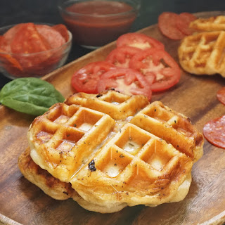 Pepperoni Pizza Waffles