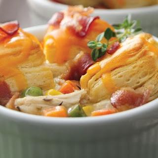 Mini Bacon Chicken Pot Pies