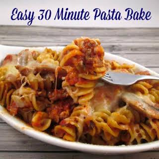 Easy 30 Minute Pasta Bake.