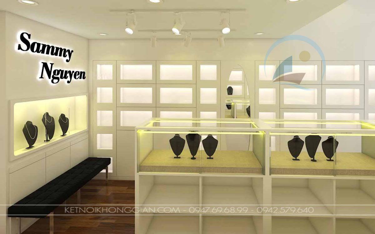 Thiết kế cửa hàng vàng bạc Hà Nội