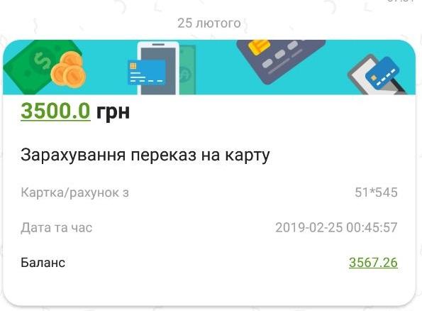 СМС от Приват24