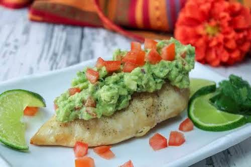 "Cilantro Guacamole Chicken ""We really loved this way to serve a chicken..."