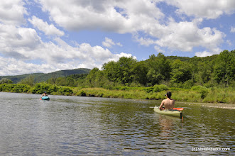 Photo: Paddling in Waterbury Reservoir at Little River State Park
