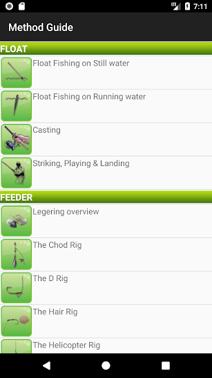 Coarse and Game Fishing screenshot for Android
