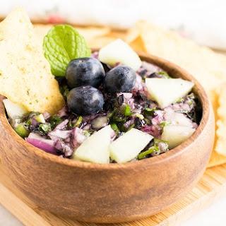 Honey Dew Blueberry Salsa