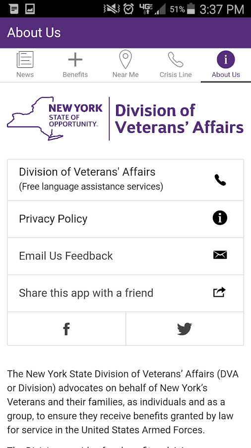NYS Veterans- screenshot