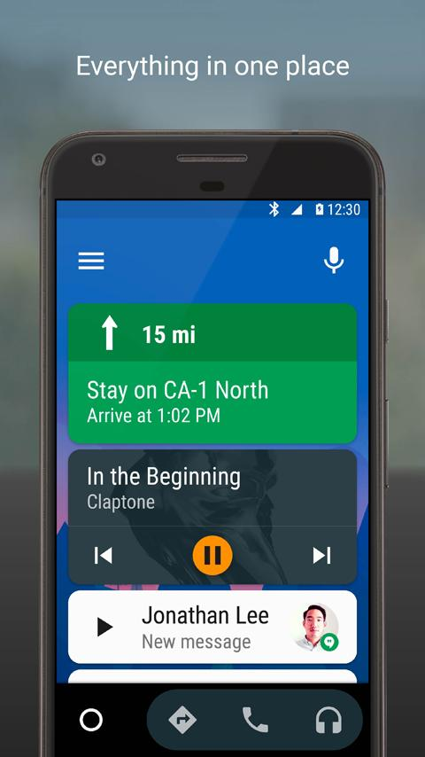 Android Auto - Maps, Media, Messaging & Voice- screenshot