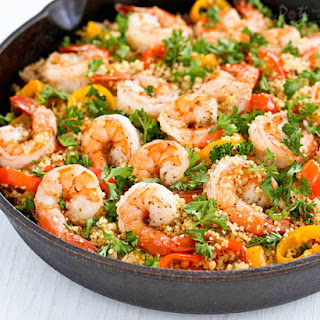Shrimp and Sweet Pepper Couscous
