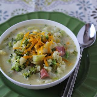 Potato, Cauliflower & Ham Soup.