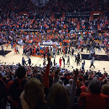 Photo: Storming the court in Corvallis after the Beavers upset Arizona! #gobeavs