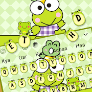 Cute Green Baby Frog Keyboard Theme \ud83d\udc38