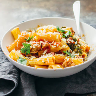 Rigatoni With Sausage Bolognese And Broccoli