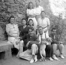 "Photo: Eduard Toldra with his family and ""Faluga"" in Cantallops around 1940's. (photo appeared at the ""Vinyes dels aspres"" website)"