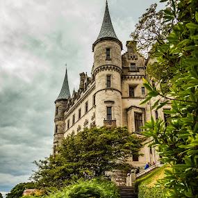 Dunrobin Castle Walk by Nathan Robertson - Buildings & Architecture Public & Historical ( path, gardens, castle, highlands, scotland )