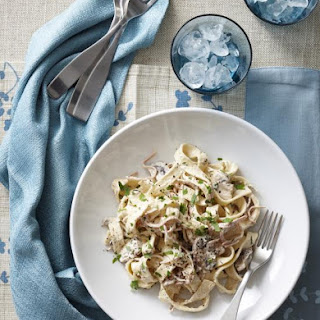 Mushroom and Mortadella Fettuccine Recipe