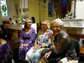 Photo: On left Mary Nolan Harpist and Soprano with Alto sisters Roberta Hardy and Hazel Meyers