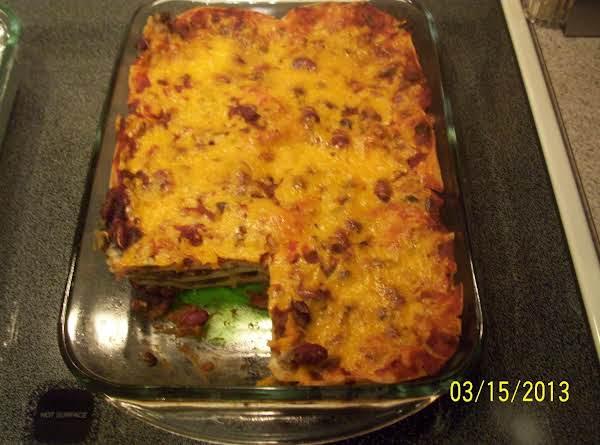 Mexican Tomatillo Lasagna - Ground Beef Recipe