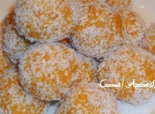 In a food processor chop apricots and coconut until thoroughly combined.Add the 1/4 cup...