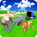 Zoo Animals Transport Truck 3d icon
