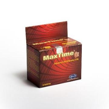 Max Time 2.5/2.5% Sobres