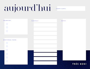 Tres Bon To Do - Planner template