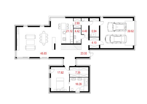 House X03 - Rzut parteru