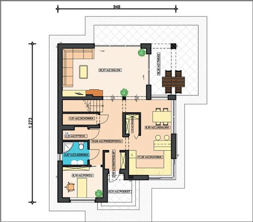 K-160 - Rzut piętra