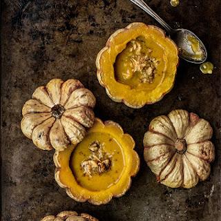 Pumpkin Coconut Soup with Walnut Gremolata