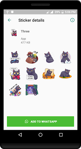 Cat Sticker for Whatsapp - WAStickerApps 1.0 screenshots 2