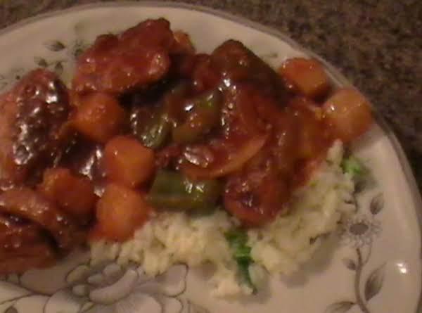 Sweet & Sour Pork With Scallion Rice Recipe