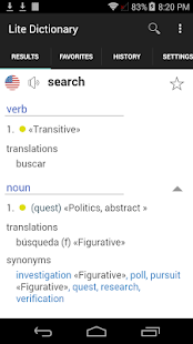English Spanish Free Dictionary- screenshot thumbnail